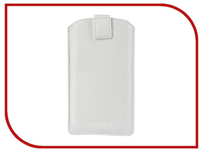 где купить  Аксессуар Чехол Nobby Comfort WM-001 универсальный XXL иск. кожа White  дешево