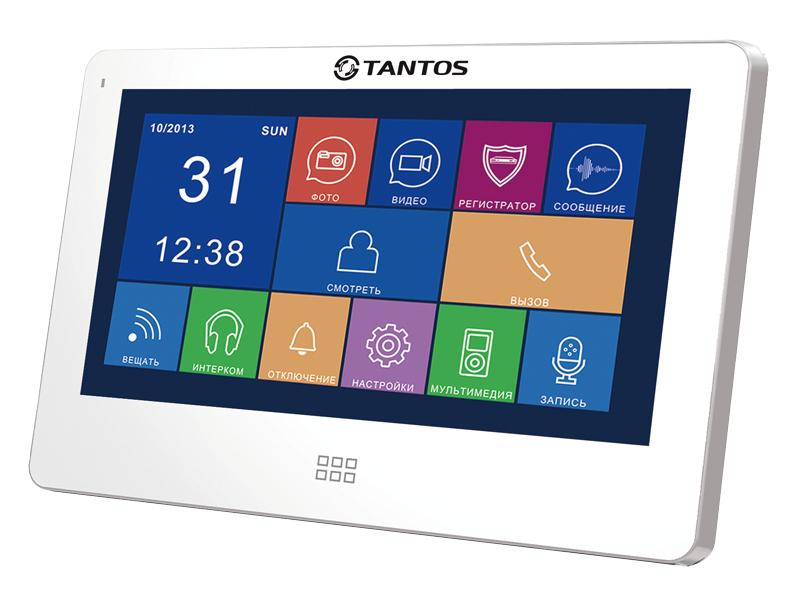 Видеодомофон Tantos NEO Slim White видеодомофон tantos lea цветной tft lcd 4 3 480x272 pal ntsc hands free подключение 2 х панелей до 4 х мониторов в параллель 6 мелодий питание