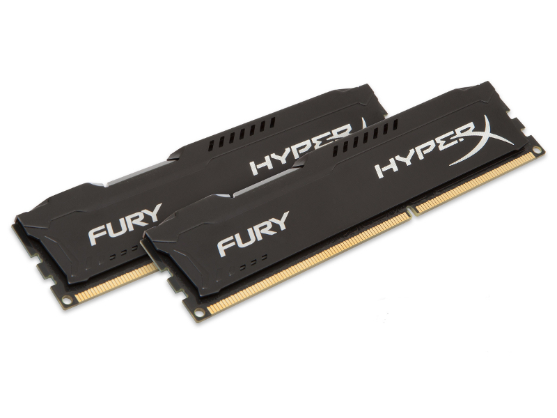 Модуль памяти Kingston HyperX Fury Black Series PC3-12800 DIMM DDR3 1600MHz CL10 - 8Gb KIT (2x4Gb) HX316C10FBK2/8 модуль памяти crucial ballistix tactical ddr3 dimm 1600mhz pc3 12800 cl8 8gb kit 2x4gb blt2cp4g3d1608dt1tx0ceu