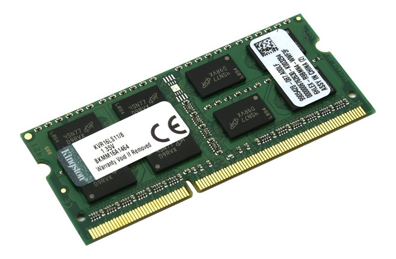 Модуль памяти Kingston DDR3L SO-DIMM 1600MHz PC3-12800 CL11 - 8Gb KVR16LS11/8