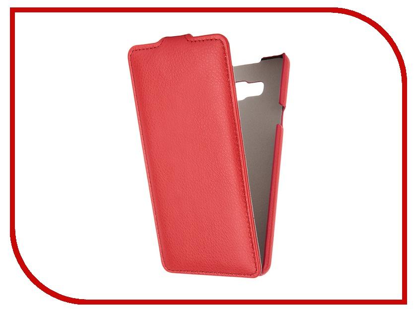 Аксессуар Чехол Samsung Galaxy A7 Ainy кожаный Red<br>