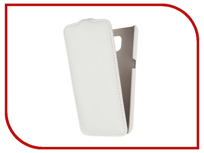 Аксессуар Чехол Samsung G920F Galaxy S6 Ainy кожаный White