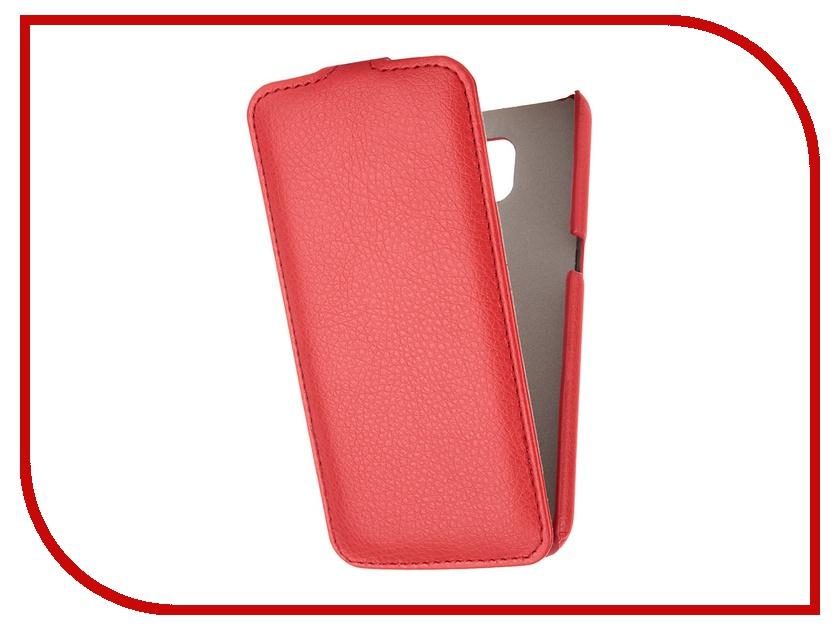 Аксессуар Чехол Samsung G920F Galaxy S6 Ainy кожаный Red<br>