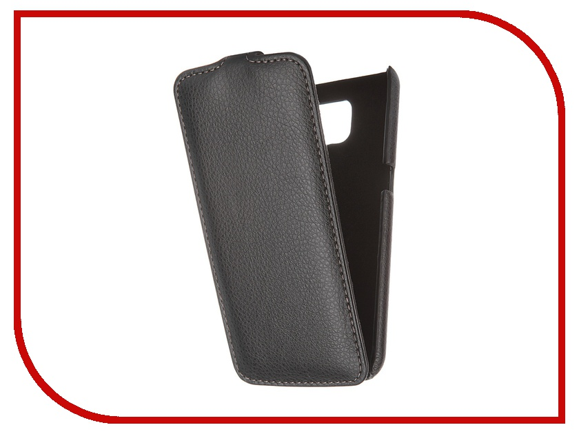 все цены на  Аксессуар Чехол Samsung G920F Galaxy S6 Ainy кожаный Black  онлайн