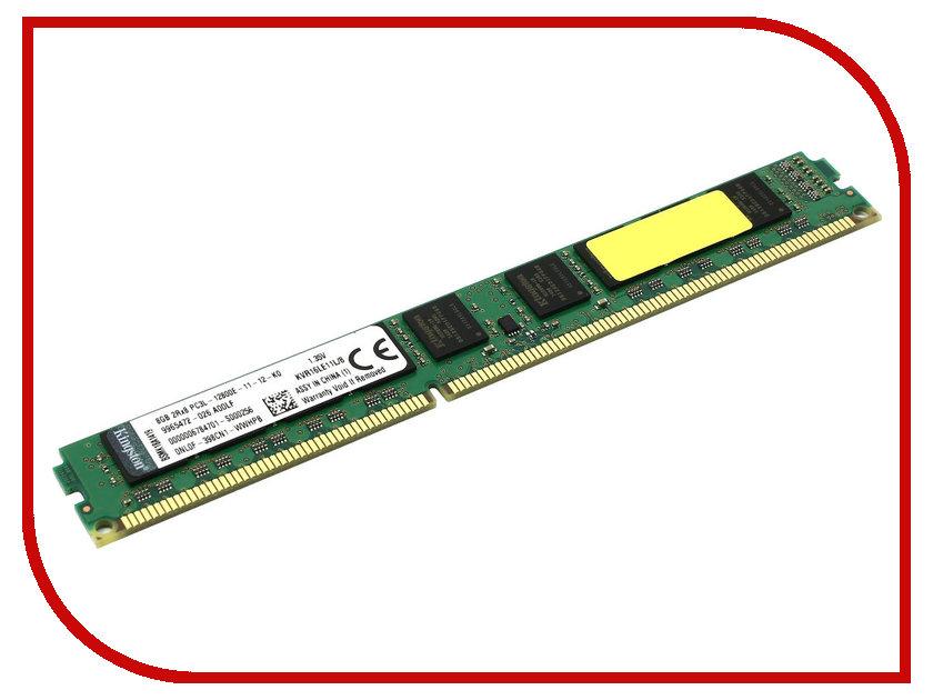 Модуль памяти Kingston ValueRAM PC3-12800 DIMM DDR3L 1600MHz CL11 ECC - 8Gb KVR16LE11L/8<br>