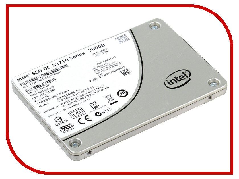 Жесткий диск 200Gb - Intel S3710 Series SSDSC2BA200G401
