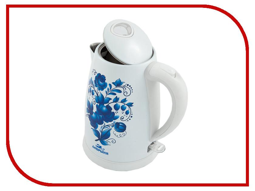 Чайник Добрыня DO-1214 White погружной блендер добрыня do 2305 white