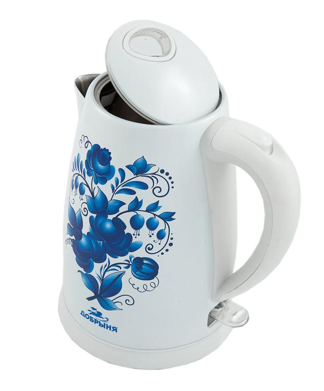 Чайник Добрыня DO-1214 White цена и фото