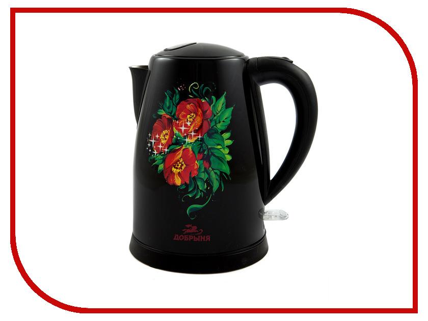 Чайник Добрыня DO-1215 Маки Black<br>