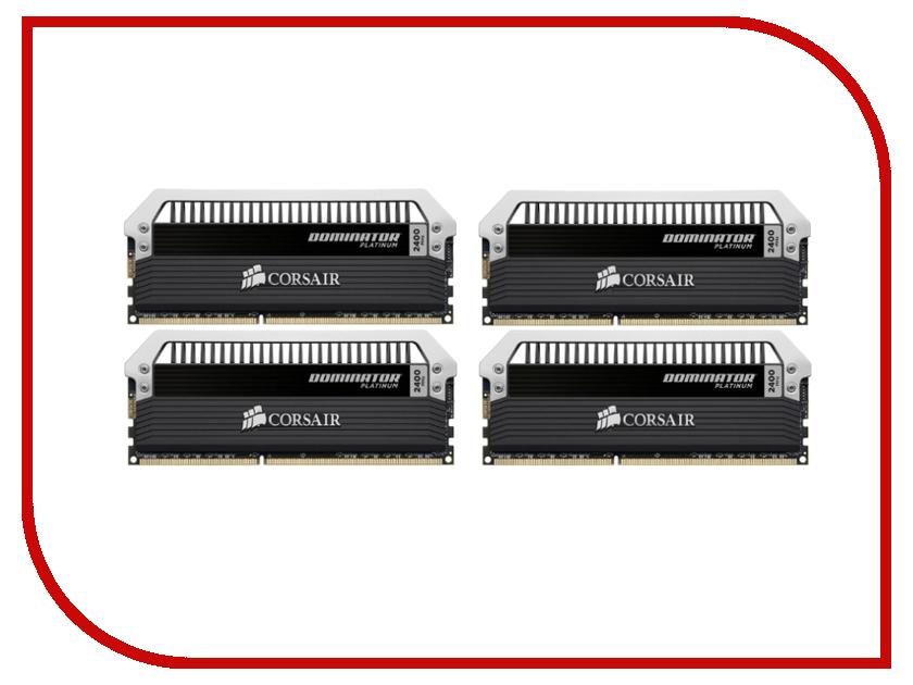 Модуль памяти Corsair Dominator Platinum DDR3 DIMM 2400MHz PC3-19200 CL11 - 32Gb KIT (4x8Gb) CMD32GX3M4A2400C11