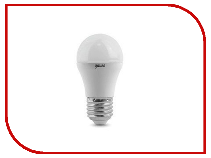 Лампочка Gauss LED Globe E27 6.5W 100-240V 3000K 105102107
