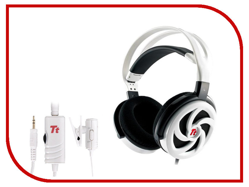 Гарнитура Tt eSports by Thermaltake Shock Spin Gaming HT-SKS004ECWH White<br>
