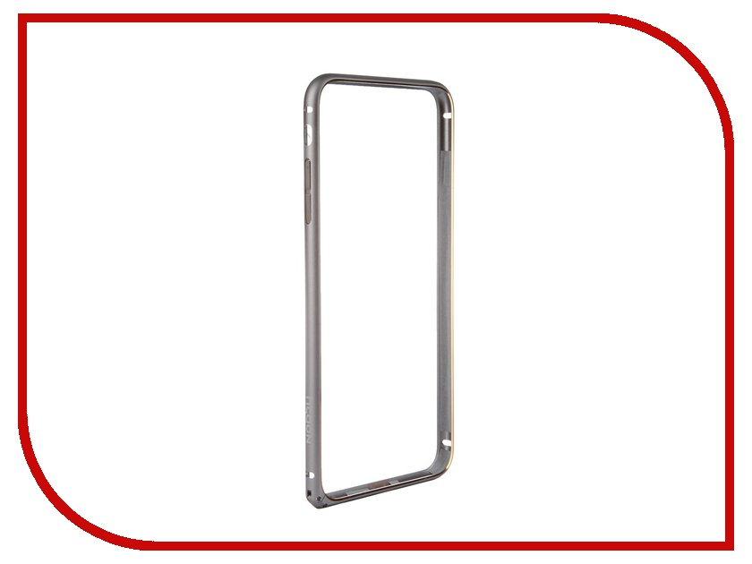 Аксессуар Чехол-накладка Nobby Practic BM-002 для iPhone 6 Plus Alum Gray 1pcs lcd display touch screen assembly with frame for iphone 6 alibaba china oem quality black and white camera holder