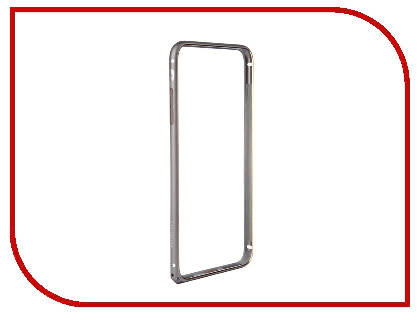 Аксессуар Чехол-накладка Nobby Practic BM-002 для iPhone 6 Plus Alum Gray чехол накладка чехол накладка iphone 6 6s 4 7 lims sgp spigen стиль 1 580075