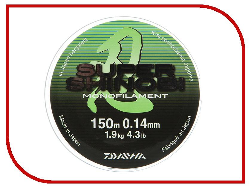 Леска Daiwa Super Shinobi 0.14mm 150m Light Green
