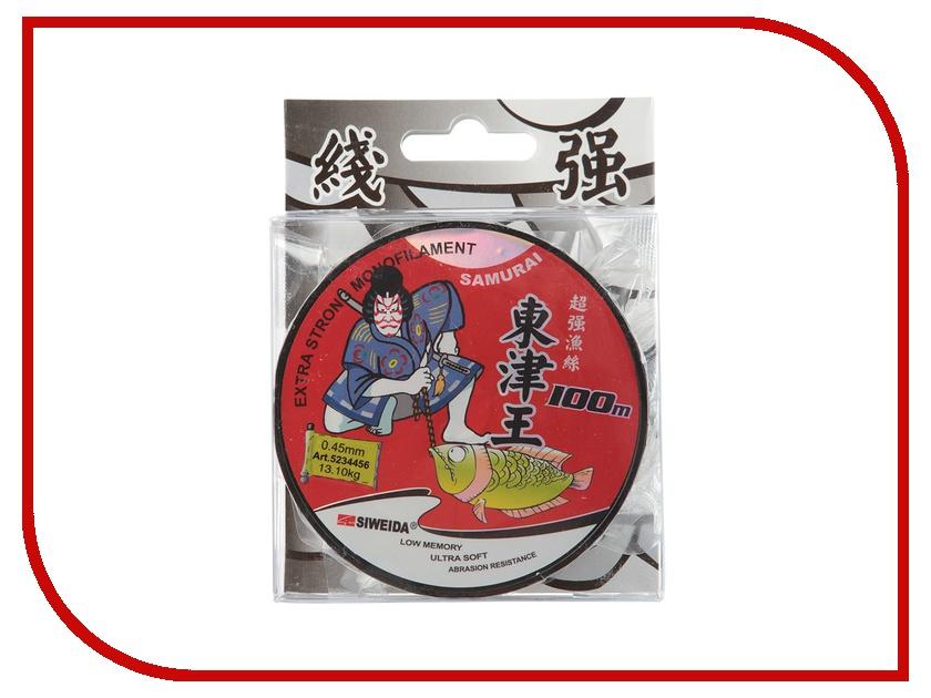 Леска Siweida SWD Samurai 0.45mm 100m 13.10kg Transparent 5234456<br>