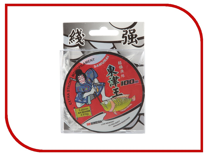 Леска Siweida SWD Samurai 0.20mm 100m 4.51kg Transparent 5234206