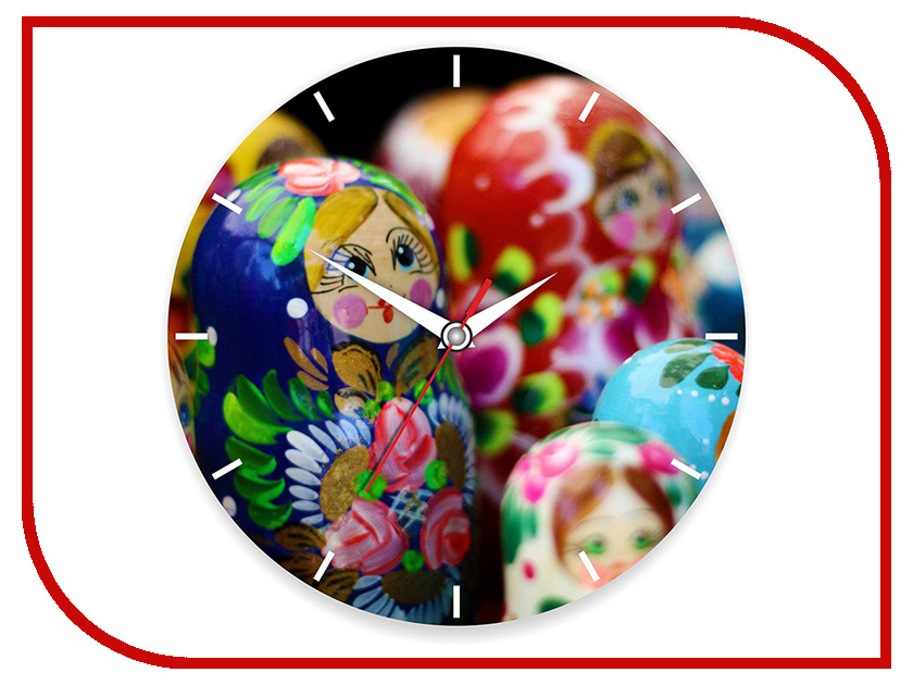 Часы настенные Часы - Матрешки Эврика 95544<br>