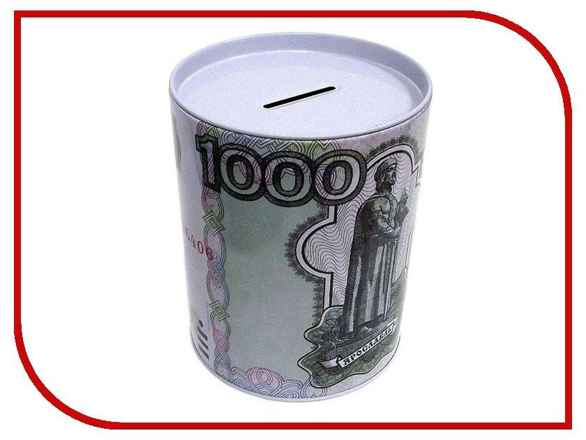 Копилка для денег Эврика Банка 1000 руб 92375 копилка для денег эврика банкомат 91911 red