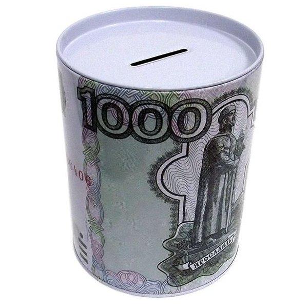 Копилка для денег Эврика Банка 1000 руб 92375 копилка для денег эврика исчезающие монеты 91745
