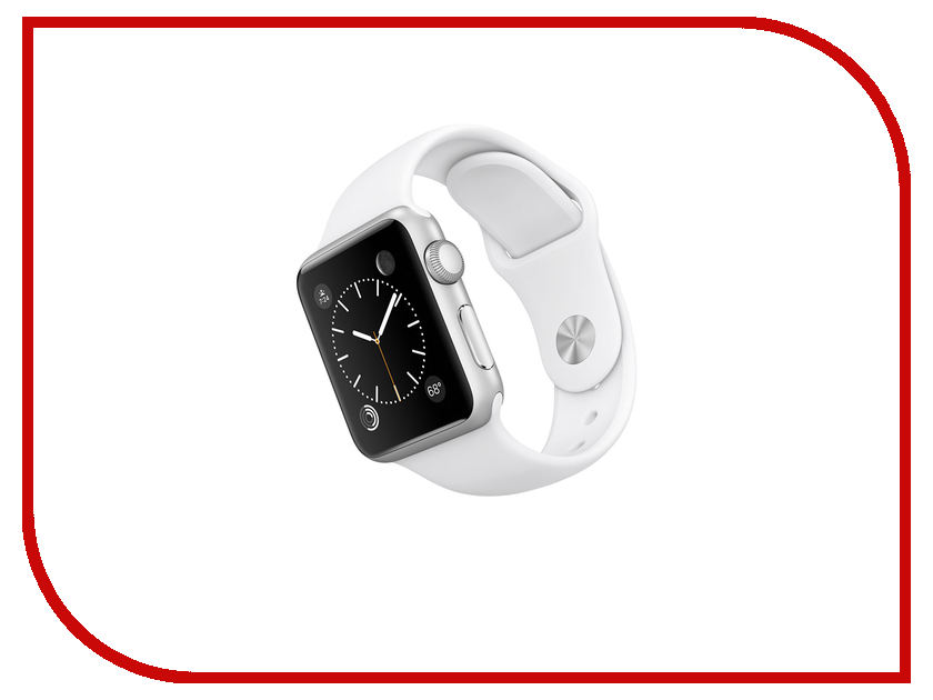 Умные часы APPLE Watch Sport 38mm with White Sport Band MJ2T2RU/A<br>