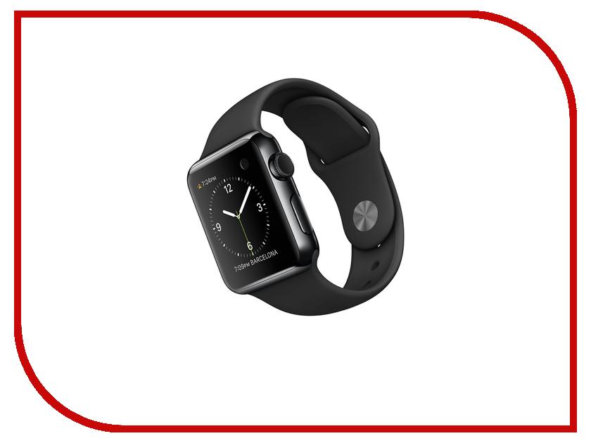 Умные часы APPLE Watch 42mm with Black Sport Band MLC82RU/A<br>
