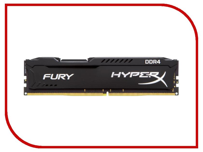 Модуль памяти Kingston HyperX Fury Black DDR4 DIMM 2133MHz PC4-17000 CL14 - 8Gb HX421C14FB/8