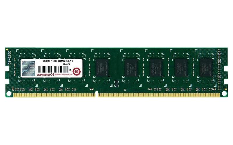 Модуль памяти Transcend PC3-12800 DIMM DDR3 1600MHz CL11 - 2Gb JM1600KLN-2G<br>