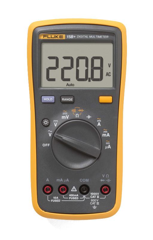 Мультиметр Fluke 15B+ мультиметр мегомметр fluke 1587t