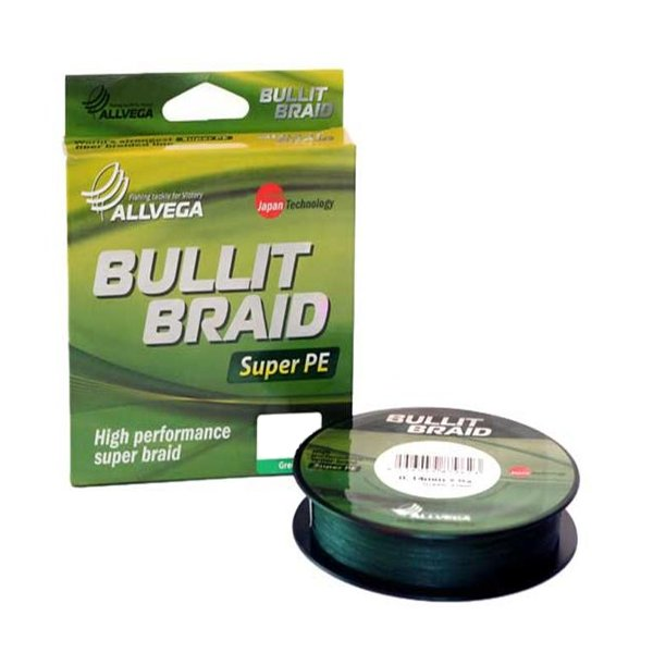 Леска Allvega Bullit Braid 135m 0.10mm Dark Green<br>