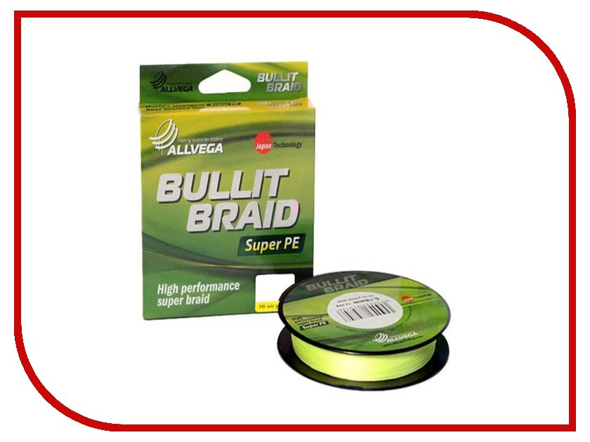 Леска Allvega Bullit Braid 135m 0.10mm Bright Yellow
