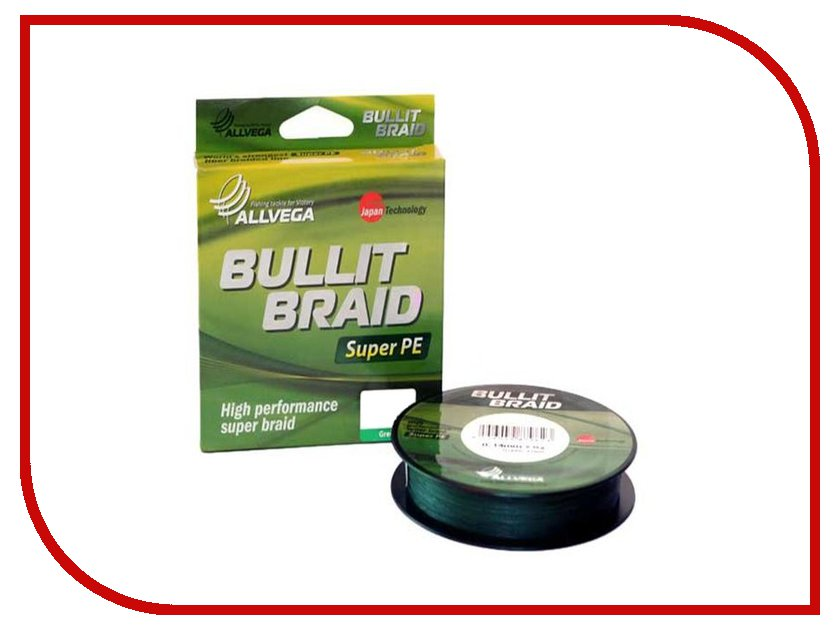 Леска Allvega Bullit Braid 135m 0.16mm Dark Green