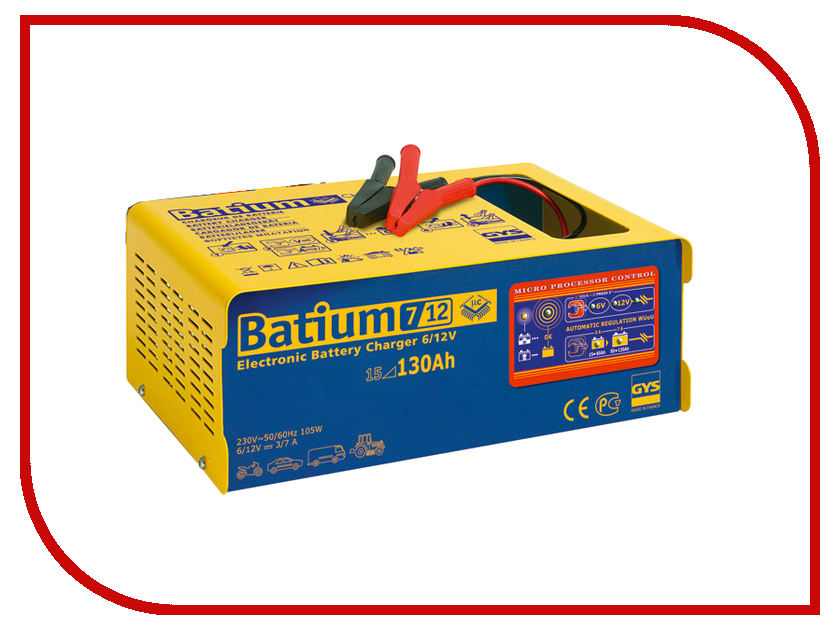 Зарядное устройство для автомобильных аккумуляторов GYS Batium 7-12