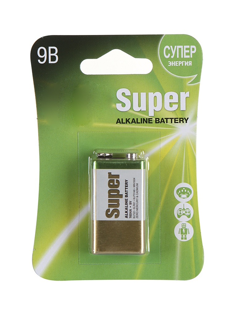 Батарейка КРОНА GP Super Alkaline 1604A-5CR1