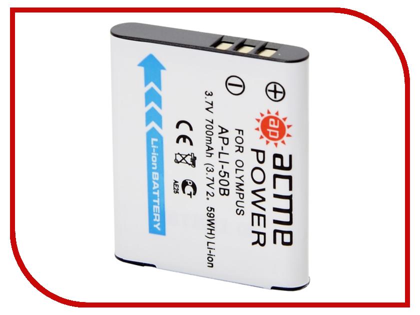 Аккумулятор AcmePower Li-50B для mju-1010 / 1020 / 1030 SW ismartdigi replacement li 50b 3 7v 920mah battery for olympus mju tough tg 160 more