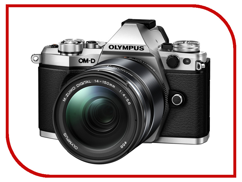Фотоаппарат Olympus OM-D E-M5 Mark II Kit 14-150 mm Silver цифровой фотоаппарат со сменной оптикой olympus om d e m10 mark ii kit double zoom black