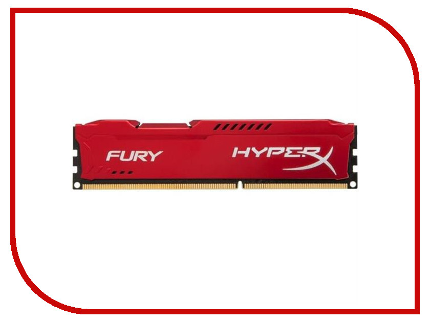 Модуль памяти Kingston HyperX Fury Red DDR3 DIMM 1333MHz PC3-10600 CL9 - 8Gb HX313C9FR/8 ddr4 8gb kingston hyperx fury black