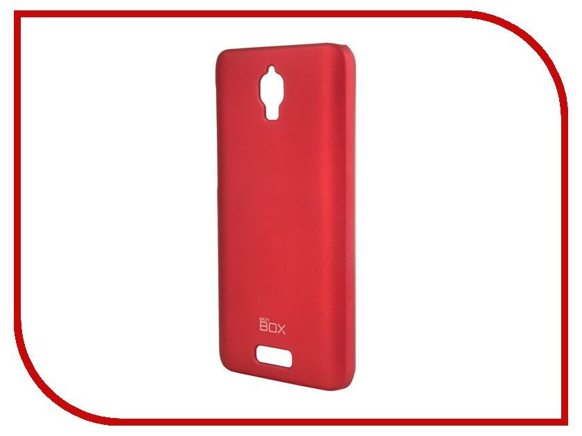 Аксессуар Чехол-накладка Lenovo S660 SkinBox 4People T-S-LS660-002 Red + защитная пленка<br>