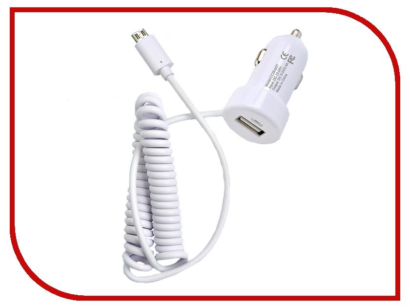 Зарядное устройство Henca USB 5V 2400 mA для iPhone 5/5S/6/iPad Air White 12161<br>
