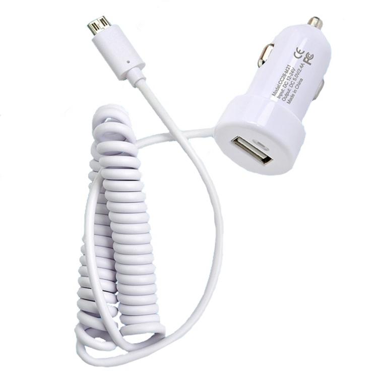 �������� ���������� Henca USB 5V 2400 mA ��� iPhone 5/5S/6/iPad Air White 12161