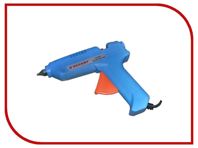 Термоклеевой пистолет Rexant 12-0105 100W термоклеевой пистолет hammer flex gn 06