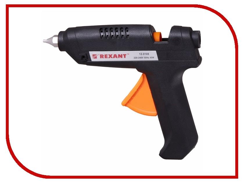 Термоклеевой пистолет Rexant 12-0108 40W<br>