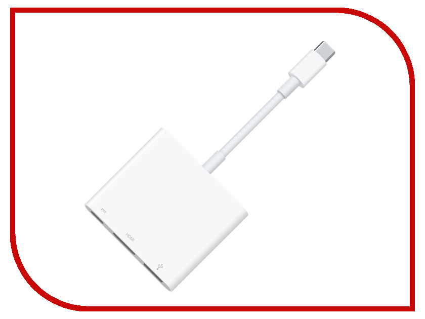 цена Адаптер APPLE USB-C Digital AV Multiport Adapter MJ1K2ZM/A