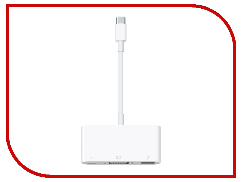 Аксессуар APPLE USB-C VGA Multiport Adapter MJ1L2ZM/A r134a recharge measuring hose gauge adapter a c refrigerant charging pipe