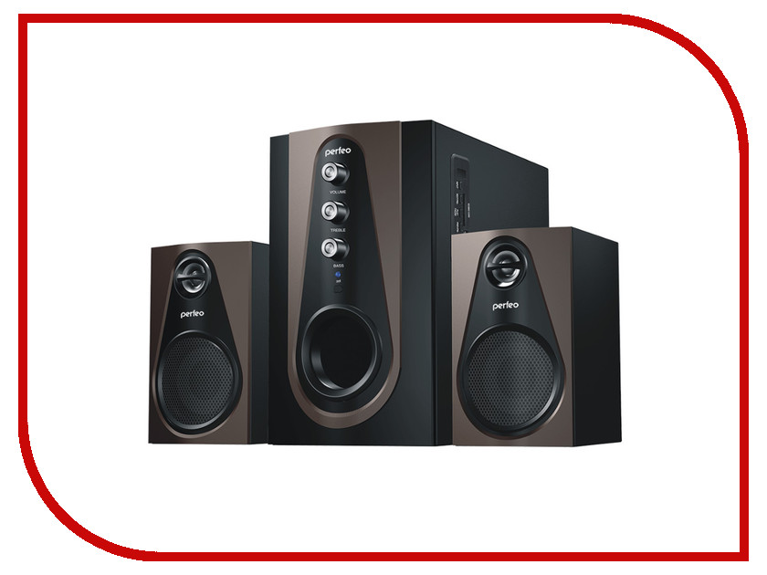 Колонки Perfeo Scenic PF-103-BT Black-Brown