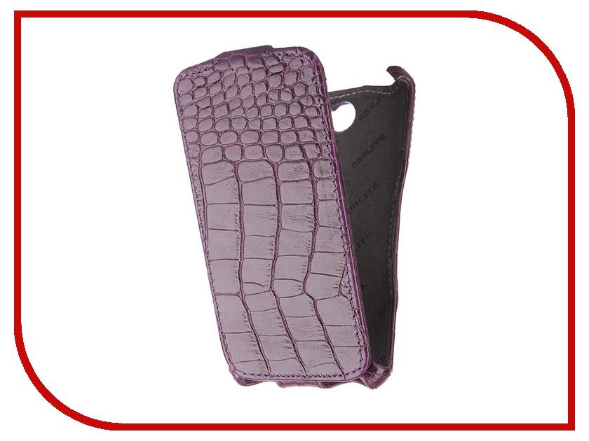 Аксессуар Чехол Abilita for Sony Xperia E4 кожаный Purple Crocodile ASONYXPE4<br>