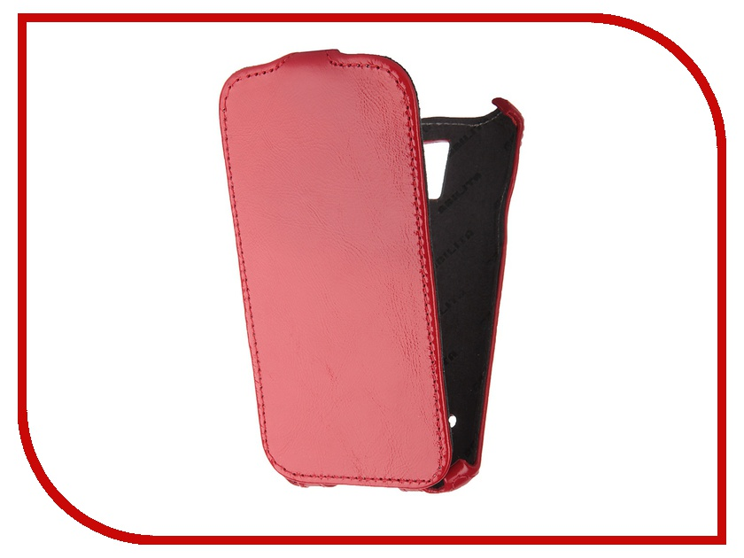 Аксессуар Чехол Abilita for Samsung SM-G900F Galaxy S5 кожаный Red Naplac ASAMG900F<br>