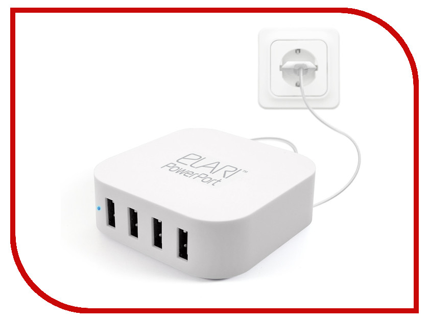 �������� ���������� Elari Power Port Mini PE-C06M 4xUSB White