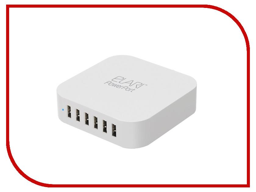 Зарядное устройство Elari Power Port PE-C06 6xUSB elari kidphone blue