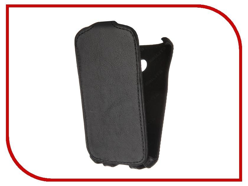 Аксессуар Чехол Abilita for Samsung SM-G313H Galaxy Ace 4 кожаный Black ASAMG313H аксессуар чехол накладка samsung galaxy sm a700 a7 activ silicone black mat 46687